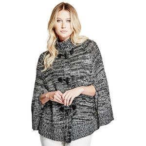 Guess salt and Pepper poncho